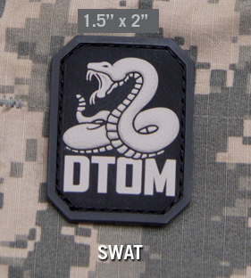 Нашивка MSM Don't Tread on Me PVC (SWAT)