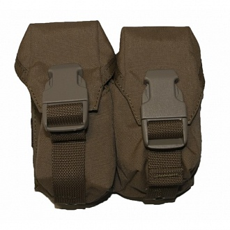 Подсумок Nemus Tactical для двух ручных гранат, coyote