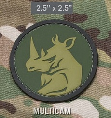 Нашивка MSM Rhino head PVC multicam