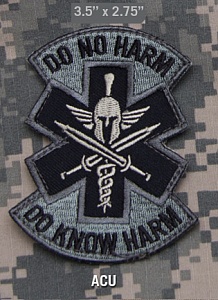 Нашивка MSM  Do No Harm Spartan (ACU)