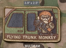 Нашивка MSM Flying Trunk Monkey multicam