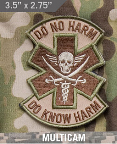 Нашивка MSM Do no harm, pirate, multicam